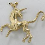 Walking Unicorn 14k Pendant