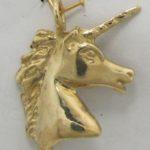Unicorn Head 14k Pendant