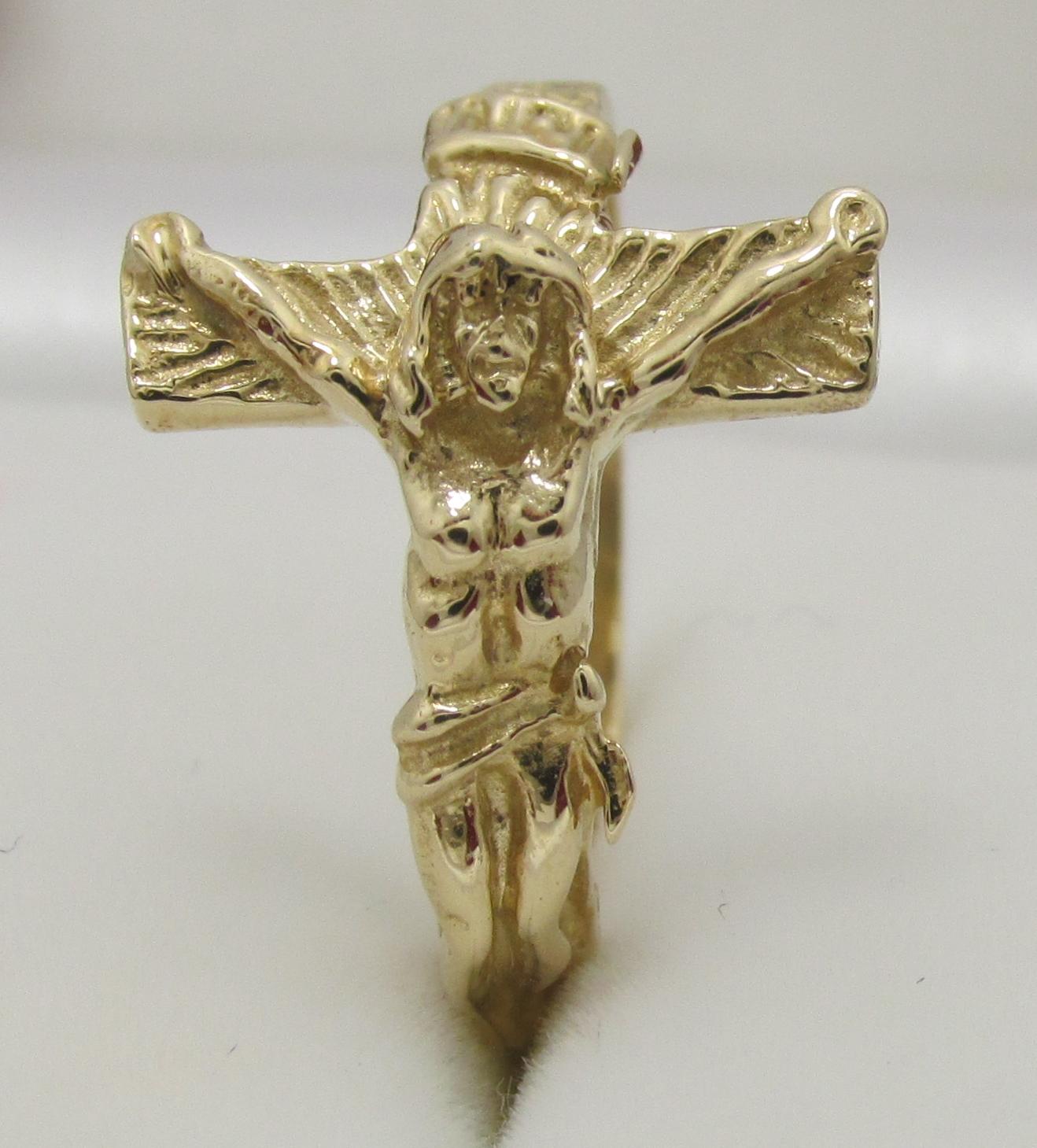 jesus ring 14k solid gold exquisite designs inc