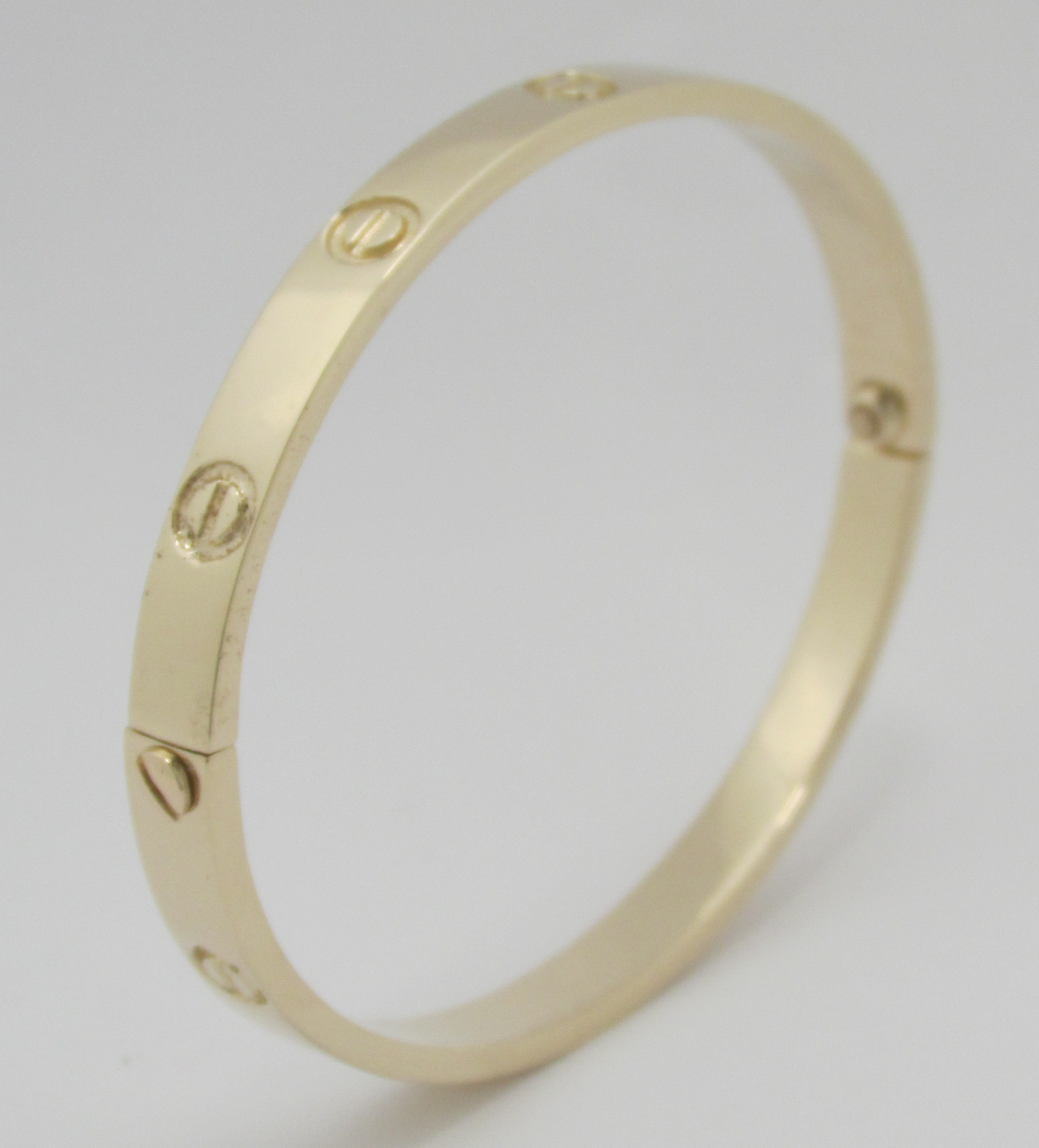 bangle serviced pink gold terrafinejewelry bracelet love bangles screw rose new box size products cartier