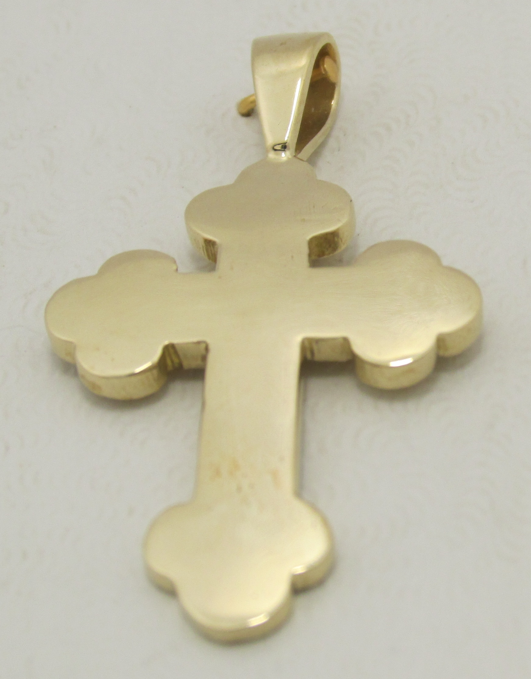 Solid 14k plain fancy cross pendant 406 grams of gold exquisite solid 14k plain fancy cross pendant 406 grams of gold aloadofball Image collections