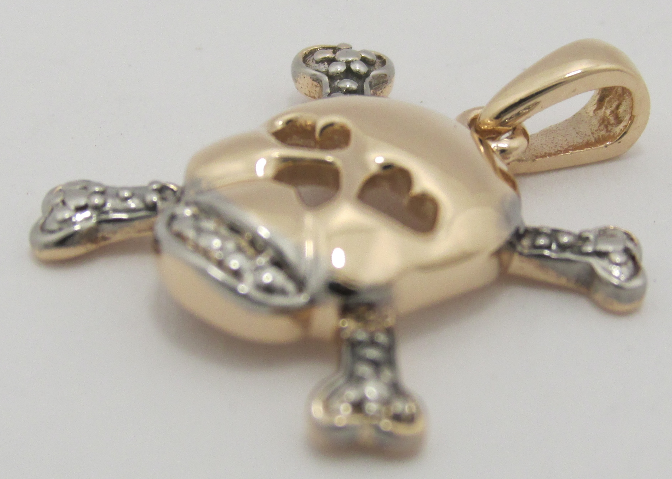 Diamond Skull And Crossbone Earrings