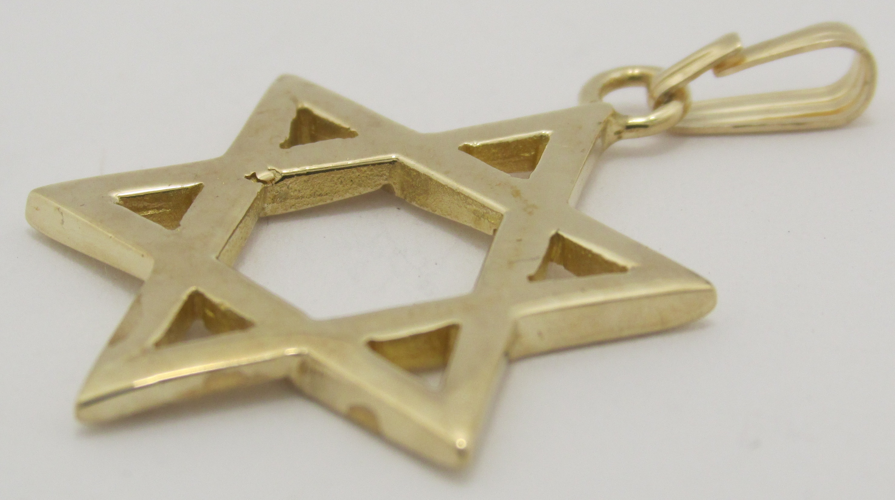 14k solid yellow gold star of david pendant exquisite designs inc 14k solid yellow gold star of david pendant aloadofball Image collections