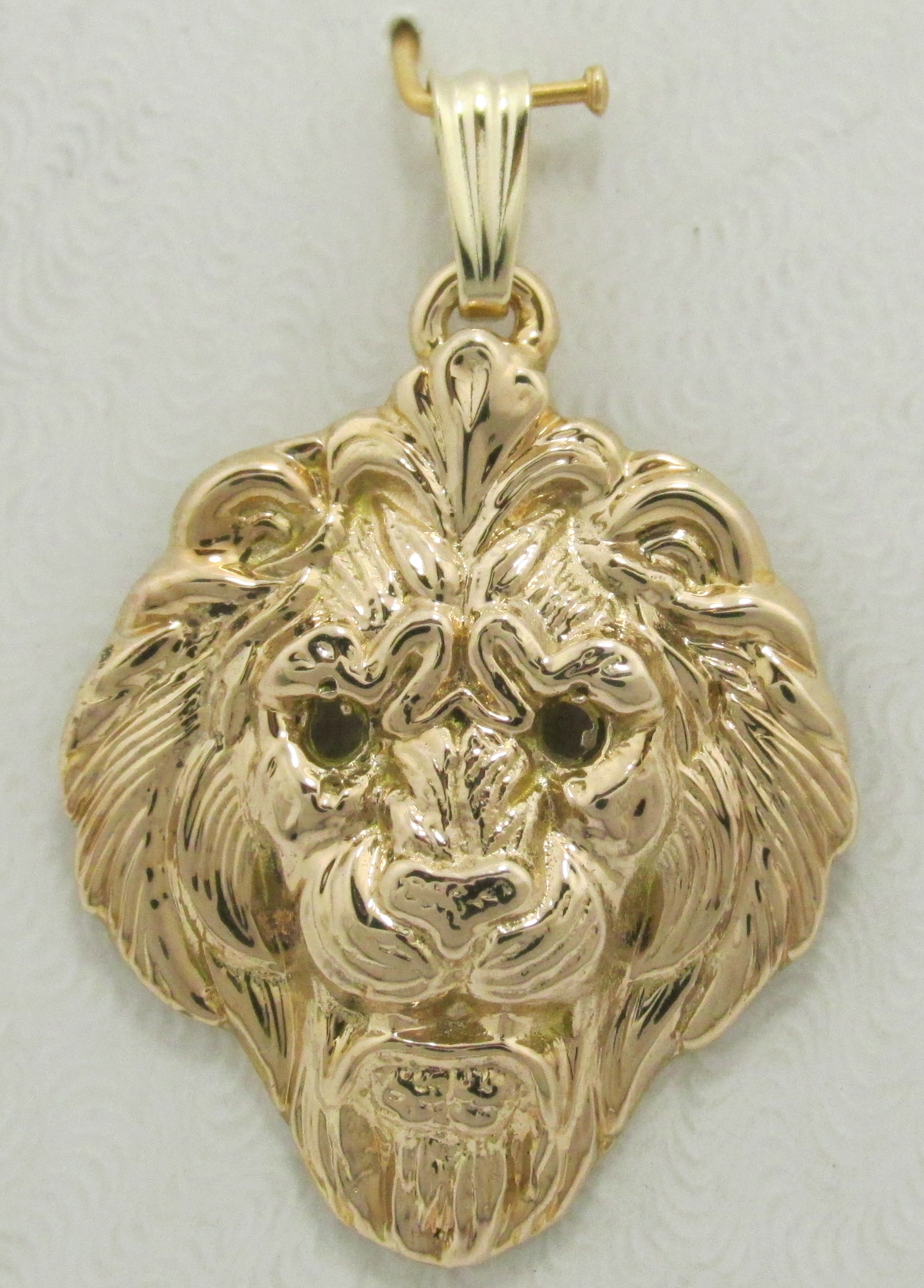 store lion silver necklace pendant plated the getty products bronze