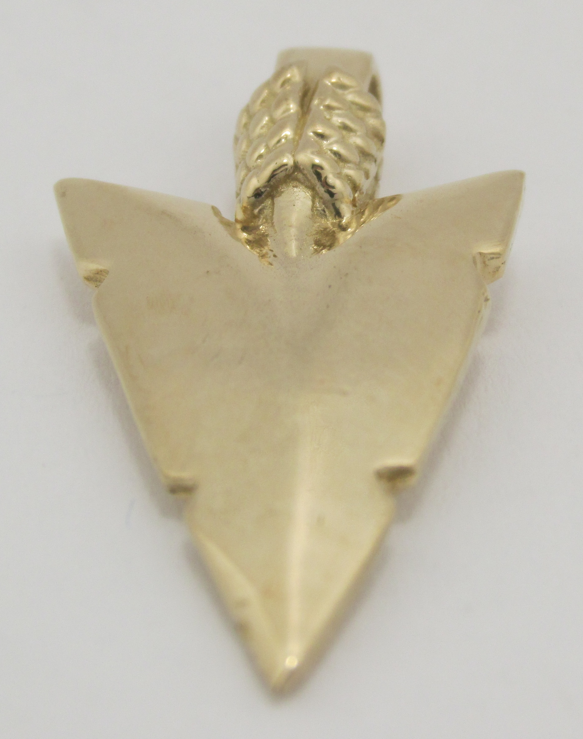 14k yellow gold arrowhead pendant w rope on bale exquisite 14k yellow gold arrowhead pendant w rope on bale aloadofball Image collections